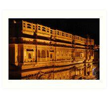 jaisalmer haveli night reflections Art Print