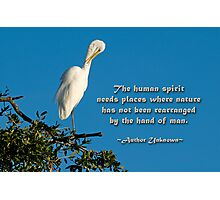 The human spirit and nature . . . Photographic Print