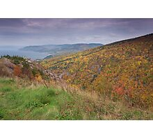 Pleasent Bay From the Cabot Trail Photographic Print