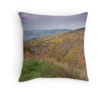Pleasent Bay From the Cabot Trail Throw Pillow