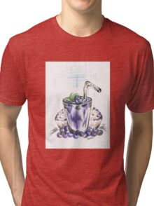 Blueberry Smoothie with Baked  Muffins Tri-blend T-Shirt