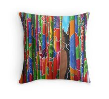 Hawaiian Fabrics Throw Pillow
