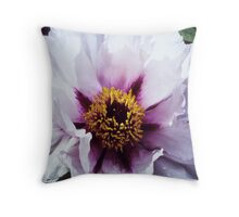 Pink Tree Peony Throw Pillow