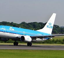 KLM 737 Departing Manchester Airport by PlaneMad1997