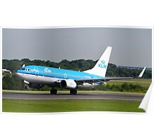 KLM 737 Departing Manchester Airport Poster