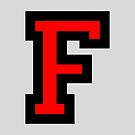 Letter F Black Red Character by theshirtshops