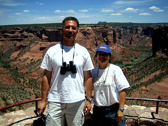 Peter and Laurie at Spider Rock, Arizona by Laurie Puglia