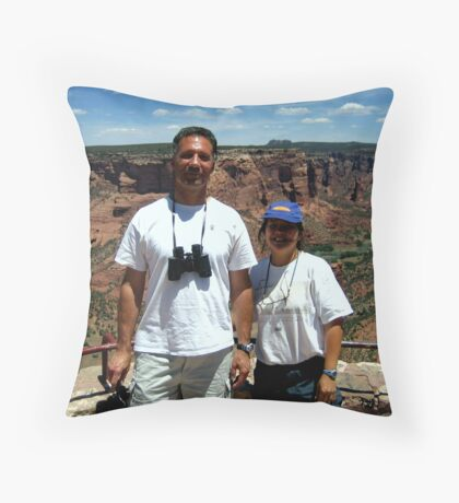 Peter and Laurie at Spider Rock, Arizona Throw Pillow