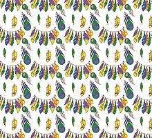 Vector Seamless Pattern of Plumage by OlgaBerlet