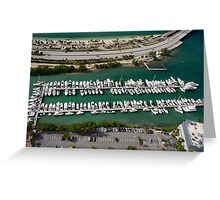 Miami: Hobie Island Harbour Greeting Card