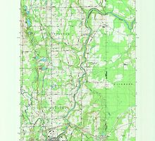 Maine USGS Historical Map Houlton North 807970 1984 24000 by wetdryvac