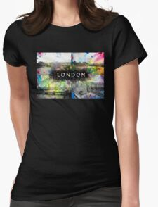 London Skyline View Collage  Womens T-Shirt
