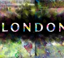 London Skyline View Collage  Sticker