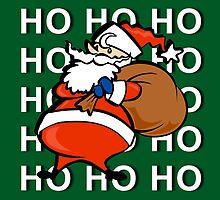 Ho Ho Ho Santa Claus Christmas Card by Jonice