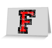 Letter F Vintage Black Red Character Greeting Card