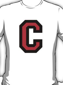 Letter C Black/Red Character T-Shirt