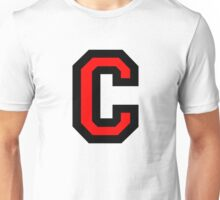Letter C Black/Red Character Unisex T-Shirt