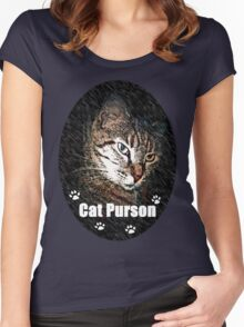 Cat Purson Tee Women's Fitted Scoop T-Shirt