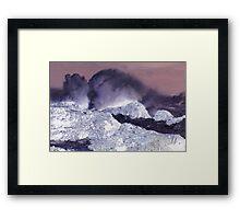 Colourful Waves Framed Print