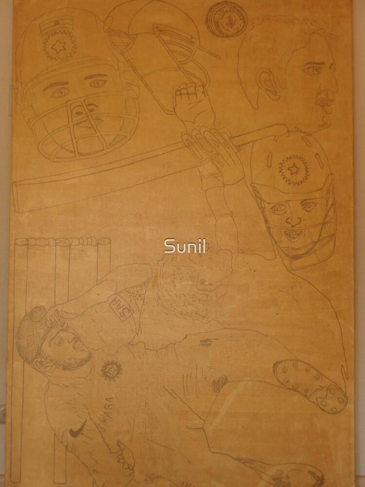 FAB Four & Bhaji – Cricket Stars  by Sunil