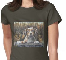 Puppy Dog Love  Womens Fitted T-Shirt