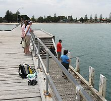 Fishing from Altona Pier by Lee Revell