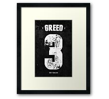 7 Deadly sins - Greed Framed Print