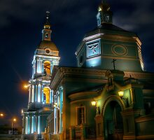 Trinity temple in Moscow - night HDR photo by Alexey Kljatov
