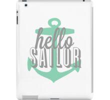 Hello Sailor Mint Anchor Design iPad Case/Skin