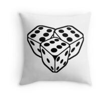666 dice Throw Pillow