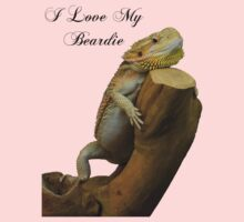 i love my beardie One Piece - Short Sleeve