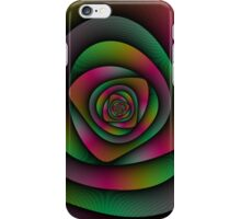 Spiral Labyrinth in Green Pink and Purple iPhone Case/Skin