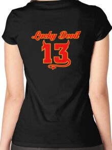 Lucky Devil 13 Women's Fitted Scoop T-Shirt