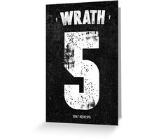 7 Deadly sins - Wrath Greeting Card