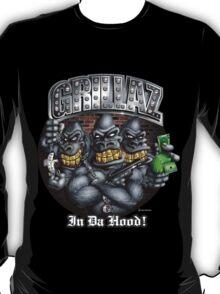 Grillaz (In Da Hood) Hip Hop Gangsta Gorillas T-Shirt