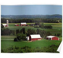 farms in Wisconsin Poster
