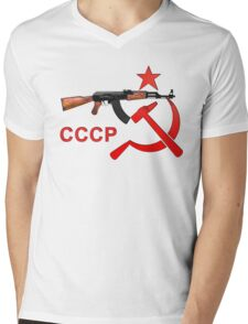 cccp star - ak47 Mens V-Neck T-Shirt