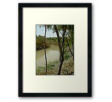 Jordan River Israel- Baptismal place of Jesus… Framed Print