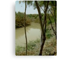 Jordan River Israel- Baptismal place of Jesus… Canvas Print