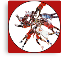 """I've Failed Over and Over Again In My Life"" Michael Jordan Earth Basketball Slam Vortex Canvas Print"