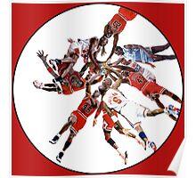 """I've Failed Over and Over Again In My Life"" Michael Jordan Earth Basketball Slam Vortex Poster"