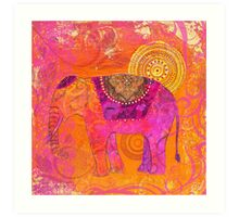 Happy Elephant II Art Print