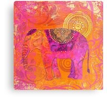 Happy Elephant II Metal Print