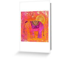 Happy Elephant II Greeting Card