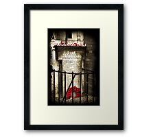 Remember Framed Print
