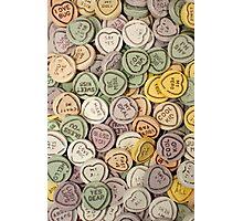 Random Love Hearts Photographic Print