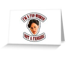 THE (FAN)WOMAN Greeting Card