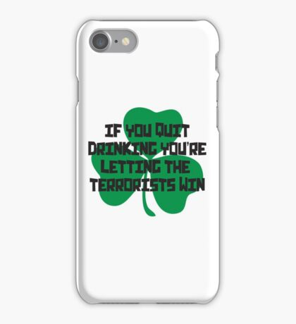 Irish Drinking Shirt iPhone Case/Skin