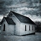 Textured Church Infrared by Annette Blattman