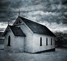 Textured Church Infrared by Annette Blattman